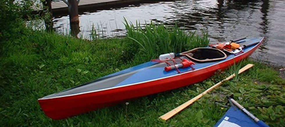 Dix 16 skin on frame kayak - designed by Dudley Dix of Dix Designs