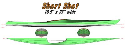short- shot skin on frame kayak